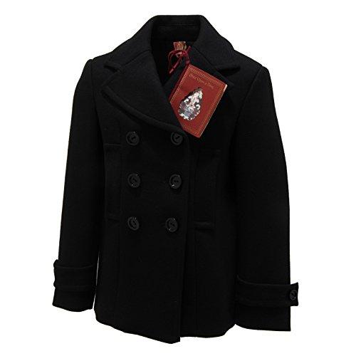 5997L cappotto bimba nero DONDUP lana giacche jackets coats kids [4 YEARS]