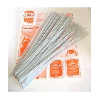 100 White Pipe Cleaners by Arts & Crafts World