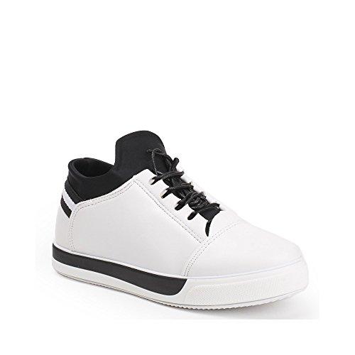 Ideal Shoes, Damen Sneaker Weiß