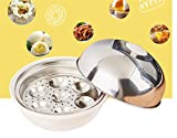 Stampo per uova in acciaio inossidabile tostato per uova al vapore con uovo al vapore a microonde