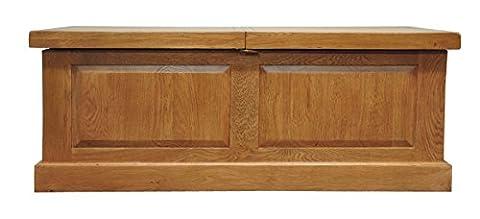 Tewkesbury Oak Box Storage Coffee Table in Light Oak Finish