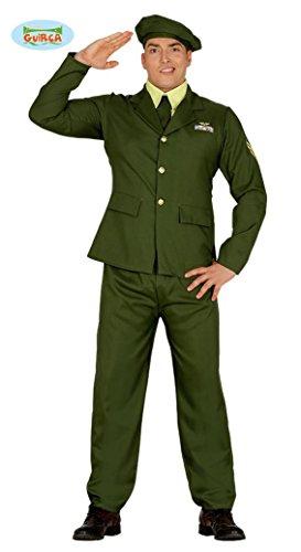 üm für Herren Soldaten Herrenkostüm Offizier General Gr. M-L, Größe:M (Halloween Kostüme Militär)
