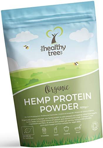 thehealthytree company proteine di canapa bio in polvere - 600g