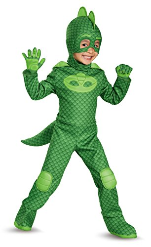 PJ Masks Gekko Deluxe Toddler Costume (2T) (Kinder Lizard Kostüme)