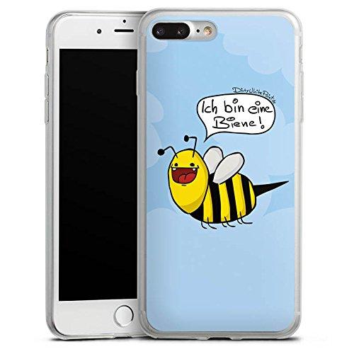 Apple iPhone 8 Slim Case Silikon Hülle Schutzhülle DirtyWhitePaint Fanartikel Merchandise Ich bin eine Biene! Silikon Slim Case transparent