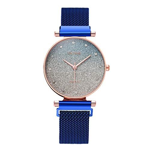 Yivise Moda para Mujer Sky Watches Reloj de Pulsera de Cuarzo con Banda de Malla