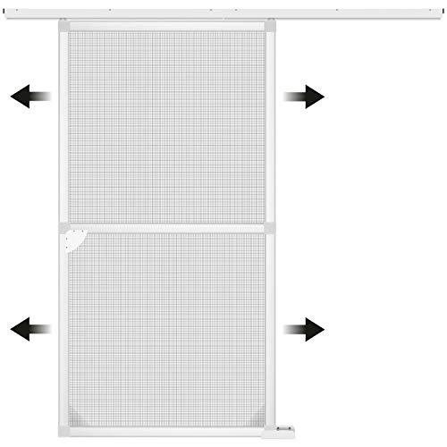 1PLUS Insektenschutz Alu Spannrahmen System Premium Schiebetür, 120 x 240 cm in verschiedenen Farben verfügbar (Weiß)