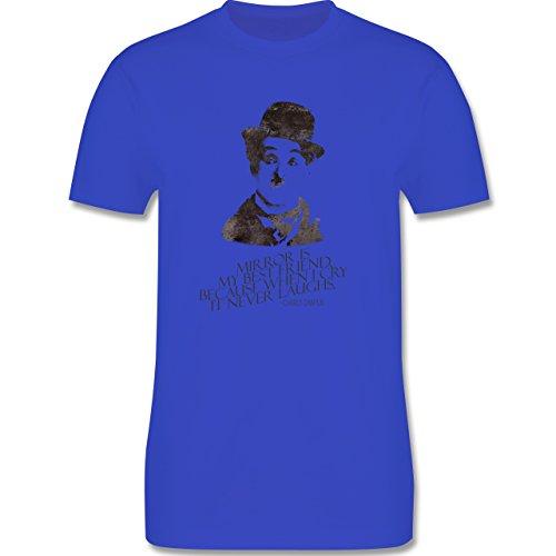 Vintage - Charlie Chaplin - mirror is my best friend - Herren Premium T-Shirt Royalblau