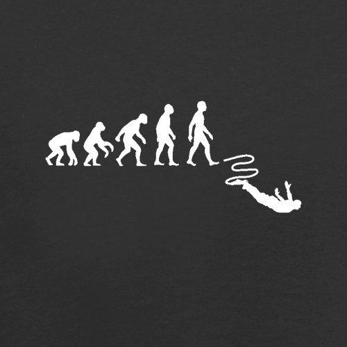 Evolution Of Man Bungeespringen - Herren T-Shirt - 13 Farben Schwarz