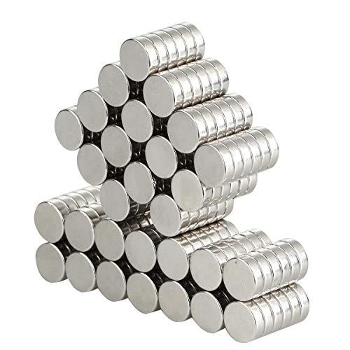 Aitsite Neodym Magnete, 10*3mm Extrem Stark Magnete 100 Stücks für Kühlschrank, White-Board, Glas-Magnettafel und basteln, extra hochwertige Beschichtung, kleine Kraftwunder von KMS-Products