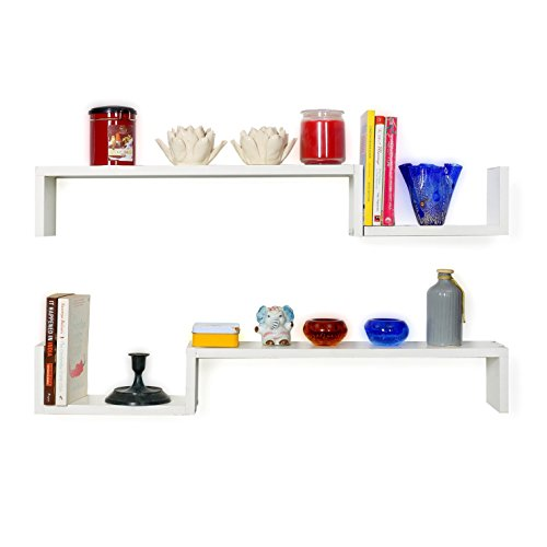 Forzza Cooper Wall Shelf (Matt Finish, White)
