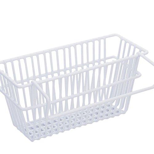 Sink Drain Basket Waschen Teller Pinsel Tuch Lagerung Korb Korb Küche Scoop Sponge Drain Rack ( Farbe : Weiß ) (Drain-stoff)
