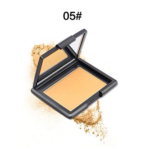 High Definition Compact Powder Make-up,Superpowder mit Anti Glanz Effek, Schützt vor UV- und IR-Strahlung,Schützen Sie die Hautbarriere Öl (Fett) Gleichgewicht Gesichtspuder Cosmetics (05) (Finish Powder Brush)