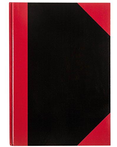 Idena 10146 - Kladde DIN A4, 96 Blatt, FSC-Mix, 70 g/m², kariert, fester Einband, rot-schwarz