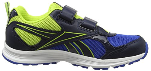 Reebok Bd4045, Sneakers trail-running mixte enfant Multicolore (Collegiate Navy/Awesome Blue/Kiwi)