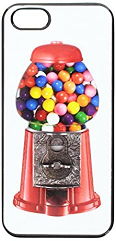 Graphics and More Gumball Machine Snap-On Hard Protective Case for iPhone 5/5s - Non-Retail Packaging - Black