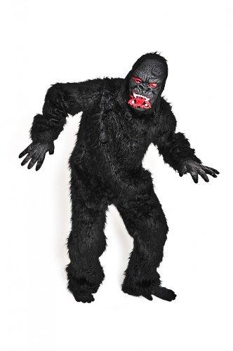 lakostüm Kostüm Gorilla Tierkostüm Affenkostüm King Kong schwarz Gr. XXL, XL, M/L, S, Größe:S (Echte Gorilla-kostüm)