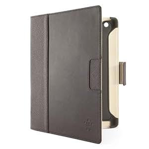 Belkin Cinema F8N757cwC02 Leder Folio (Standfunktion, Magnet, Auto-wake Funktion) für iPad 4, iPad 3rd Generation, iPad 2 braun