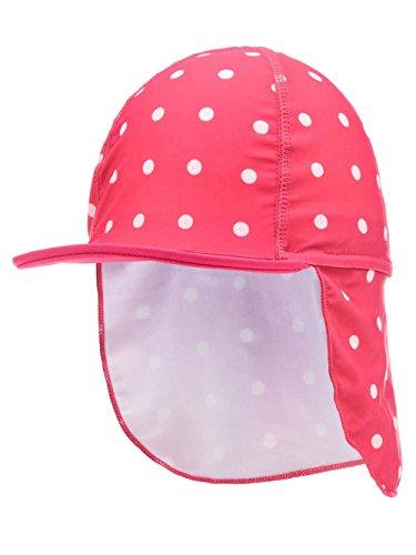 Name it Baby Sonnenschutz-Hut für Mädchen mit Nackenschutz Nitzarisa UV-Schutz 50+, Farbe:bright rose, Größe:50/51