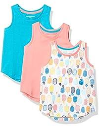 Amazon Essentials Camiseta de Tirantes para Niña (3 Unidades) Tank-Top-and-Cami-Shirts Niñas