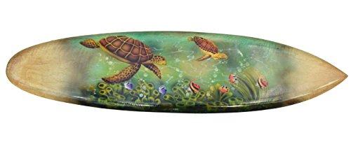 Surfbrett 100cm in Paintbrush Ausführung Ozean Meeresschildkröten Dekoration zum Aufhängen Surfboard