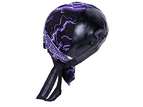 Bandana in finta pelle preformato con laccetti, rocker biker motociclista motorcycle pirata cap cappellino ZA-72
