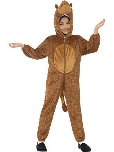 Luxuspiraten - Kinder Jungen Mädchen Kostüm Plüsch Kamel Camel Dromedar Fell Einteiler Onesie Overall Jumpsuit, perfekt für Karneval, Fasching und Fastnacht, 122-134, - Kind Camel Kostüm