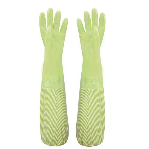 Handschuhe, Geschirrspülhandschuhe, Gummi-Geschirrspülhandschuhe, wasserdicht, für die Küchenreinigung geeignet, zum Waschen von Obst und Gemüse, zum Schutz Ihrer Hände- 1 Paar Grün 48 * 48 - Gummi Aus Garten-handschuhe