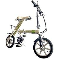 Helliot Bikes NEO03 Bicicleta Eléctrica, Unisex Adulto, Verde (Eco), Talla Única