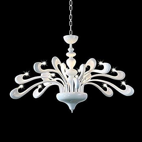 Américain Simple Fer Swan 18 tête LED Pour Salon Chambre, Restaurant, Lustre