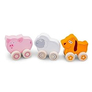 New Classic Toys 11821Wheelie Animales de Granja Puzzle