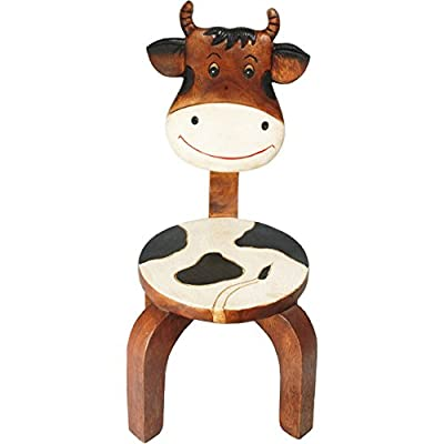 Kids Or Children's Solid Wood Cow Seat Chair New