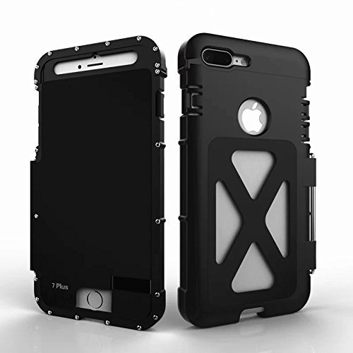 r-just neuesten Camouflage iPhone 7, iPhone 7plus Metall Fall, Edelstahl Metall [stoßfest dropproof] Bumper Flip Back Cover für iPhone 7, iPhone 7plus Fall, Edelstahl, camouflage, iphone 7 schwarz