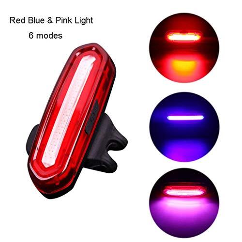 TAOtTAO LED USB wiederaufladbare MTB Sicherheitswarnung Fahrrad Rücklicht Rücklicht (C)