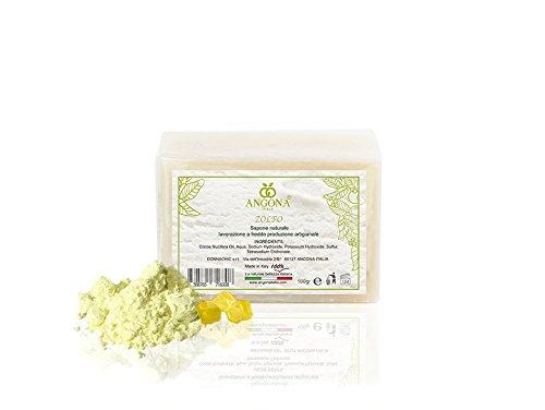 Natürliche Seife Schwefel 100g Handwerkskunst bei niedriger Temperatur Italienisches Produkt (Niedrigen Schwefel -)