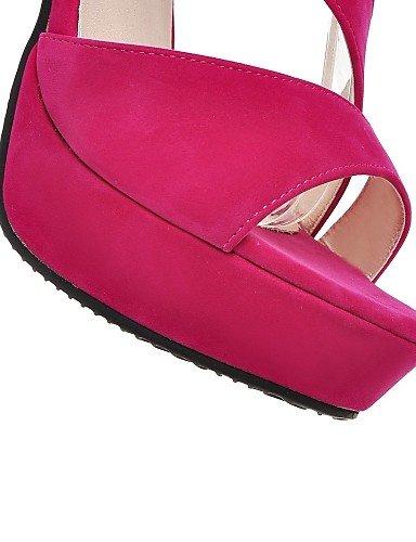 UWSZZ IL Sandali eleganti comfort Scarpe Donna-Sandali-Ufficio e lavoro / Formale-Tacchi / Plateau / Comoda / Aperta-A stiletto-Felpato-Nero / Rosso / Tessuto almond Red