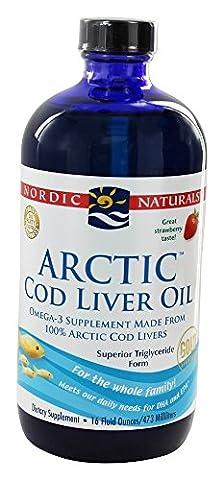 Nordic Naturals - Arctic Cod Liver Oil Strawberry - 16 oz.