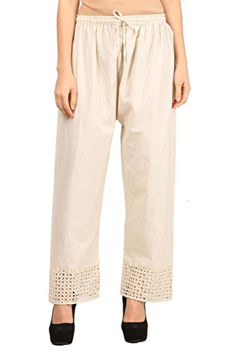 Vastraa Fusion Women Solid Khadi Cotton Palazzo Bottom