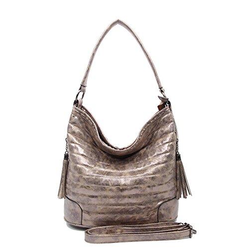OBC Only-Beautiful-Couture, Borsa a tracolla donna nero nero ca.: 38x30x17 cm (BxHxT) cachi