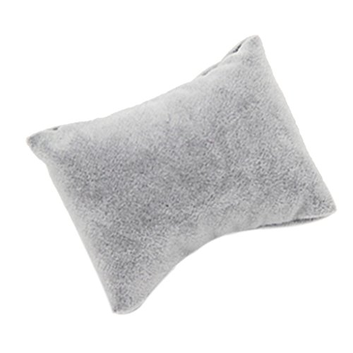 Sharplace Ringkissen Armband Kissen Eheringe Brautkissen mit Herz Dekor für Hochzeit - 5 Stk. Grau