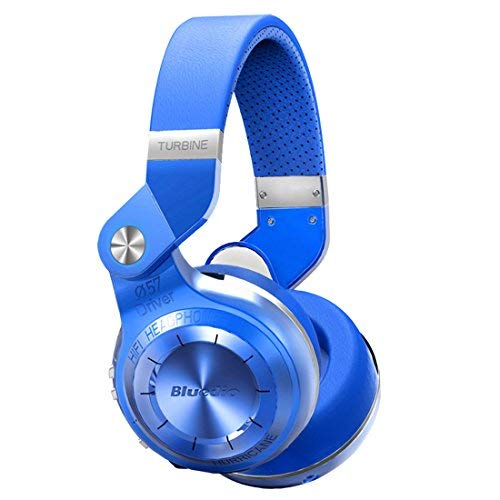 Bluedio t2+ (turbine 2plus) bluetooth stereo headphones wireless auricolari cuffie micro sd card/fm radio bluetooth 4.1 headset hurrican series over the ear headphones gift package(blu)