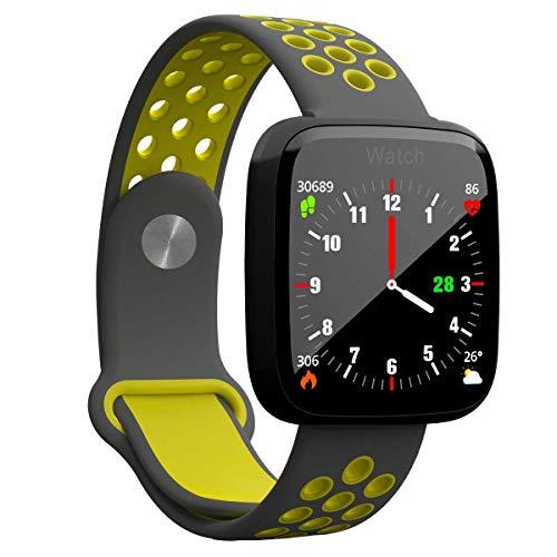 YDYDYD Intelligente Kardiographie, Blutdrucküberwachung, GPS-Bewegungsbahn, Handgelenke Für Jungen Und Mädchen. Schwarz, grün.