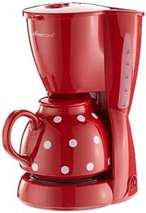 TV Das Original 01336 Coffeemaxx Kaffeemaschine - Keramik Plus Pünktchendekor, rot/weiß