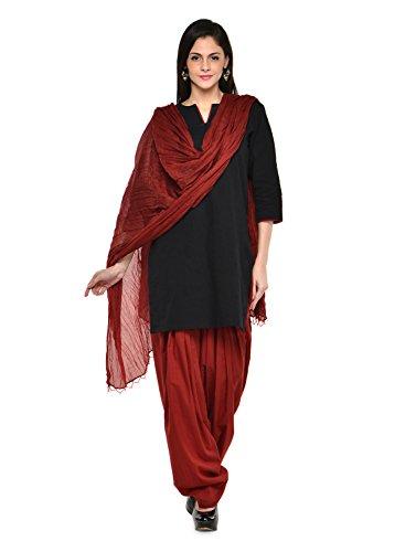 Stylenmart Maroon Patiala Salwar with Dupatta