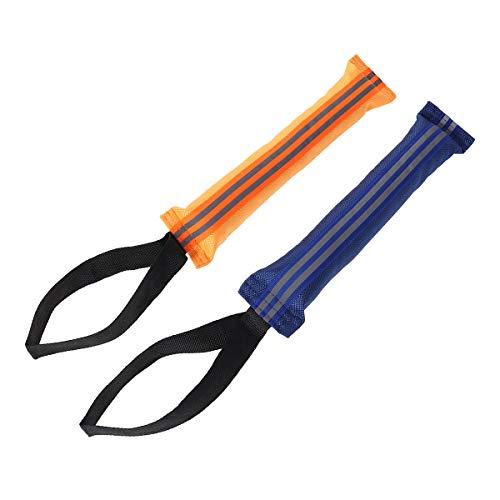 POPETPOP 2 Stück Hund Beißen Tug Spielzeug Beißen Kissen für Training Sporting und Interaktion Zerren Draußen (Gelb und Blau)