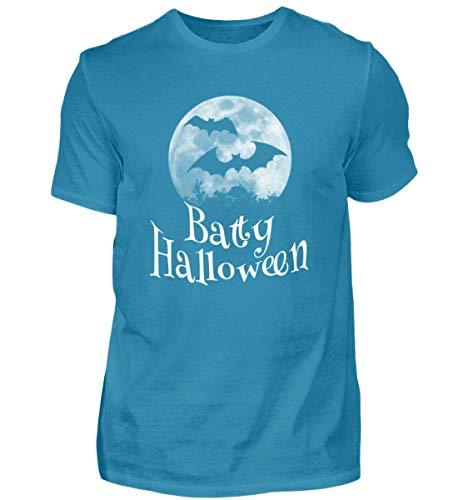 Batty Happy Halloween - Gruselige Fledermäuse vor Stylischem Vollmond an Samhain - Herren Organic Shirt