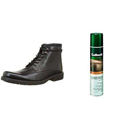 Clarks Herren Ashburn Kurzschaft Stiefel Schwarz (Black Leather mit Pflegespray)