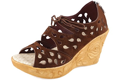 Thari Choice Woman and Girls Synthetic Velvet Wedges Heel Sandal...