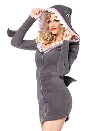 Männer Hai Kostüm - Leg Avenue 85312 - Cozy Shark Kostüm, Größe S, grau
