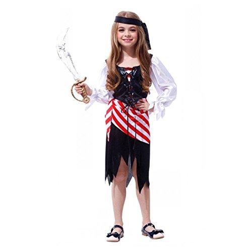 (SODIAL(R) Maedchen Halloween Kostueme Kinder Rollenspiel Piraten Kleidung L)